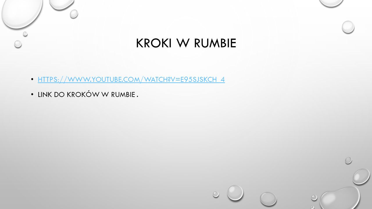 Kroki w rumbie https://www.youtube.com/watch v=e95SJskCh_4