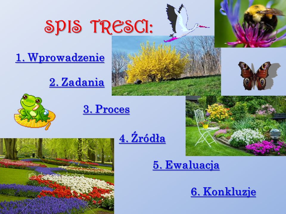 SPIS TRESCI: 1. Wprowadzenie 2. Zadania 3. Proces 4. Źródła