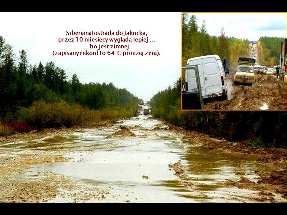 Siberianatostrada do Jakucka, przez 10 miesięcy wygląda lepiej