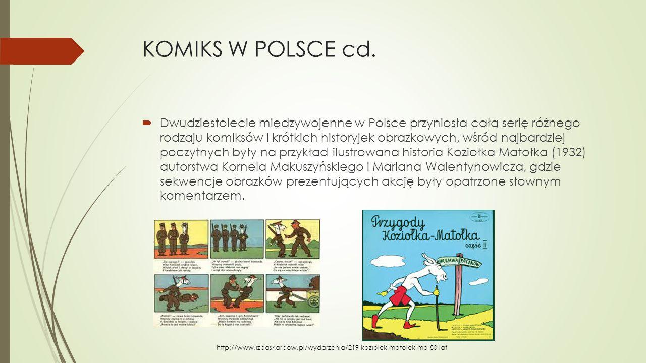 KOMIKS W POLSCE cd.