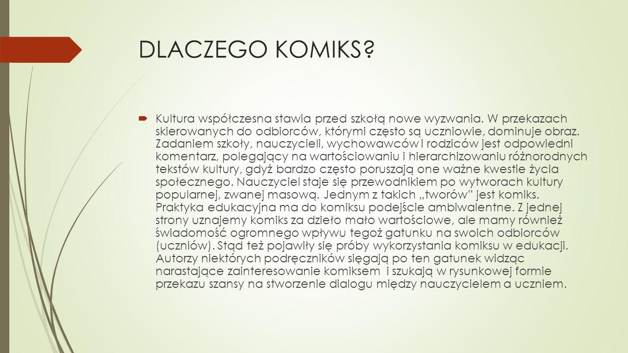 DLACZEGO KOMIKS