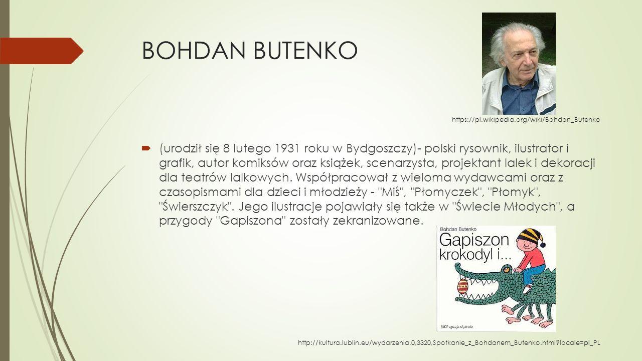 BOHDAN BUTENKO https://pl.wikipedia.org/wiki/Bohdan_Butenko.