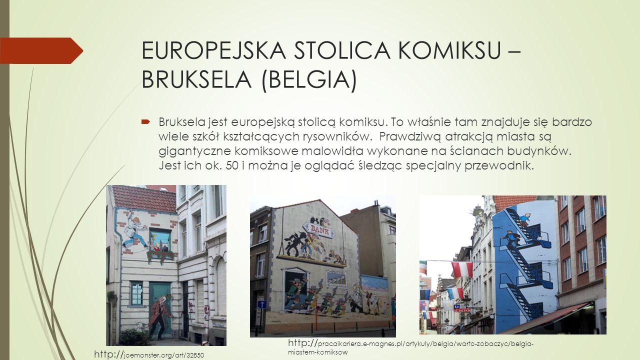 EUROPEJSKA STOLICA KOMIKSU –BRUKSELA (BELGIA)
