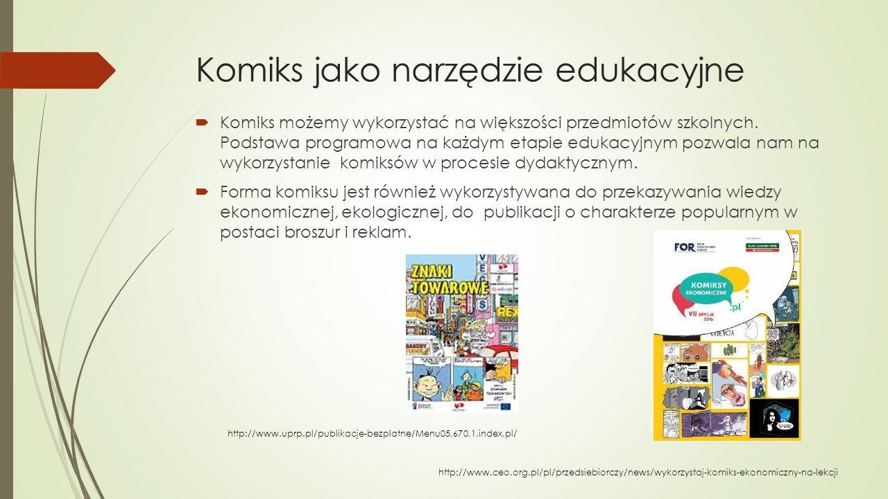 Komiks jako narzędzie edukacyjne