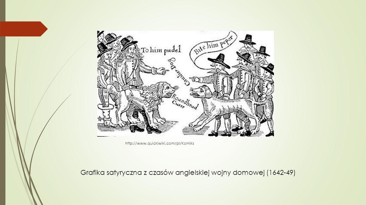 Grafika satyryczna z czasów angielskiej wojny domowej (1642-49)
