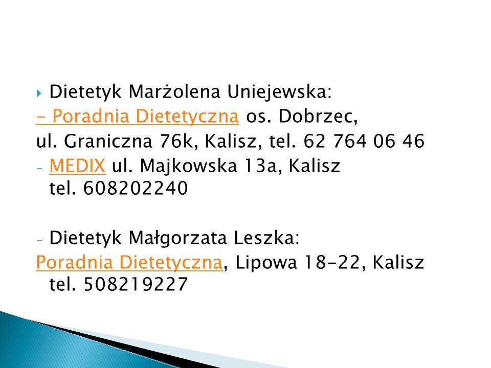 Dietetyk Marżolena Uniejewska: