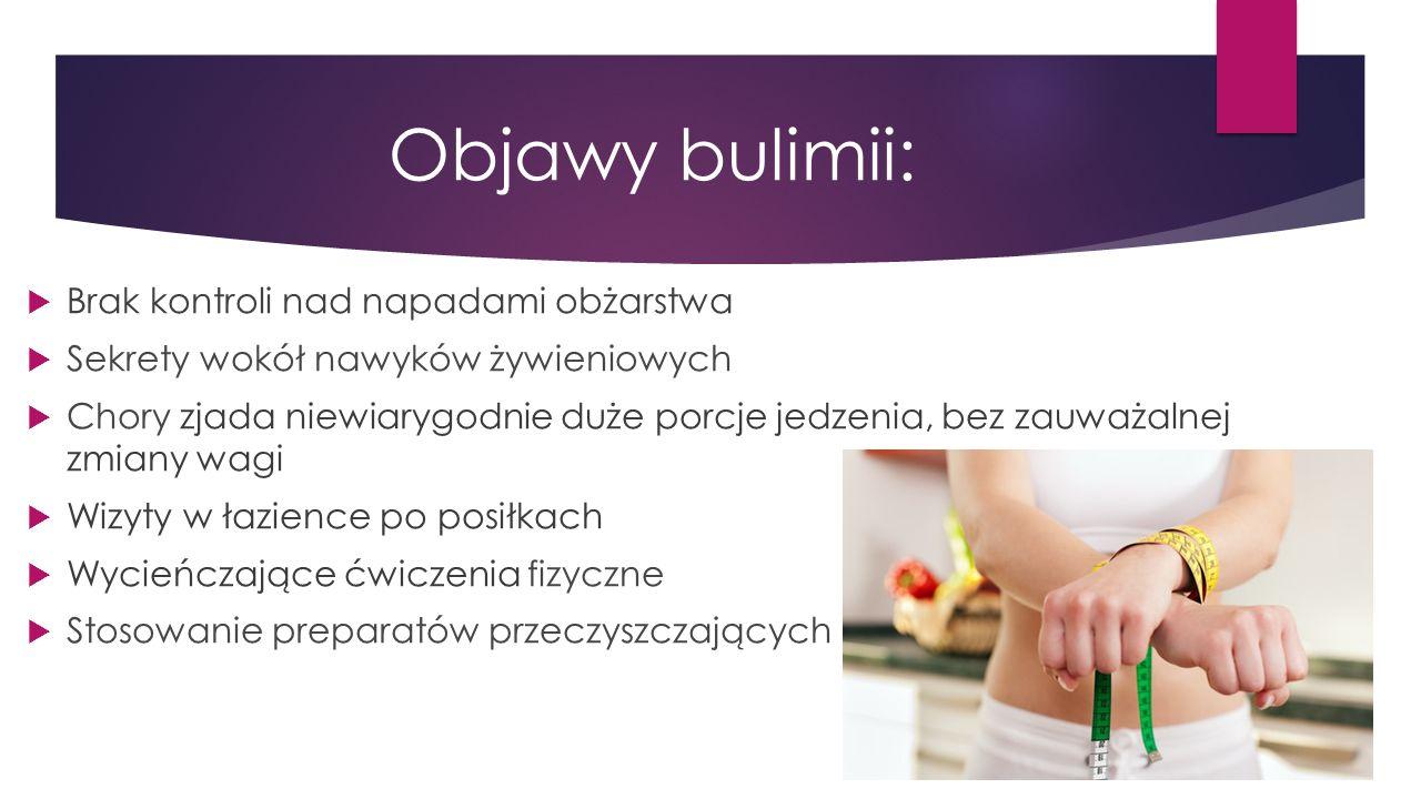 Objawy bulimii: Brak kontroli nad napadami obżarstwa