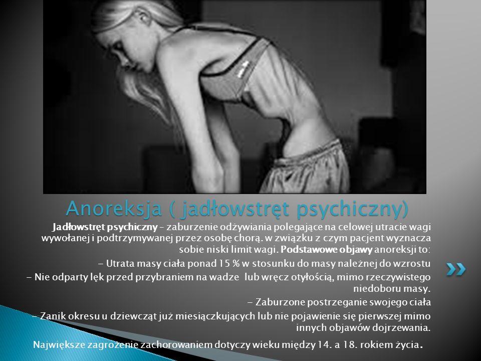 Anoreksja ( jadłowstręt psychiczny)