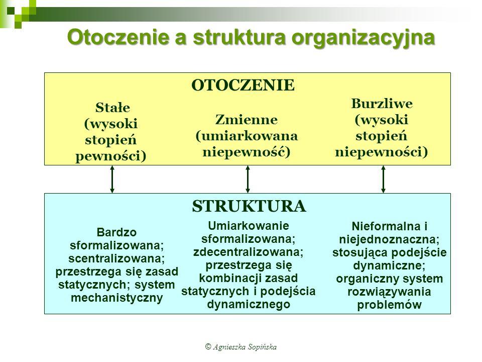 Otoczenie a struktura organizacyjna