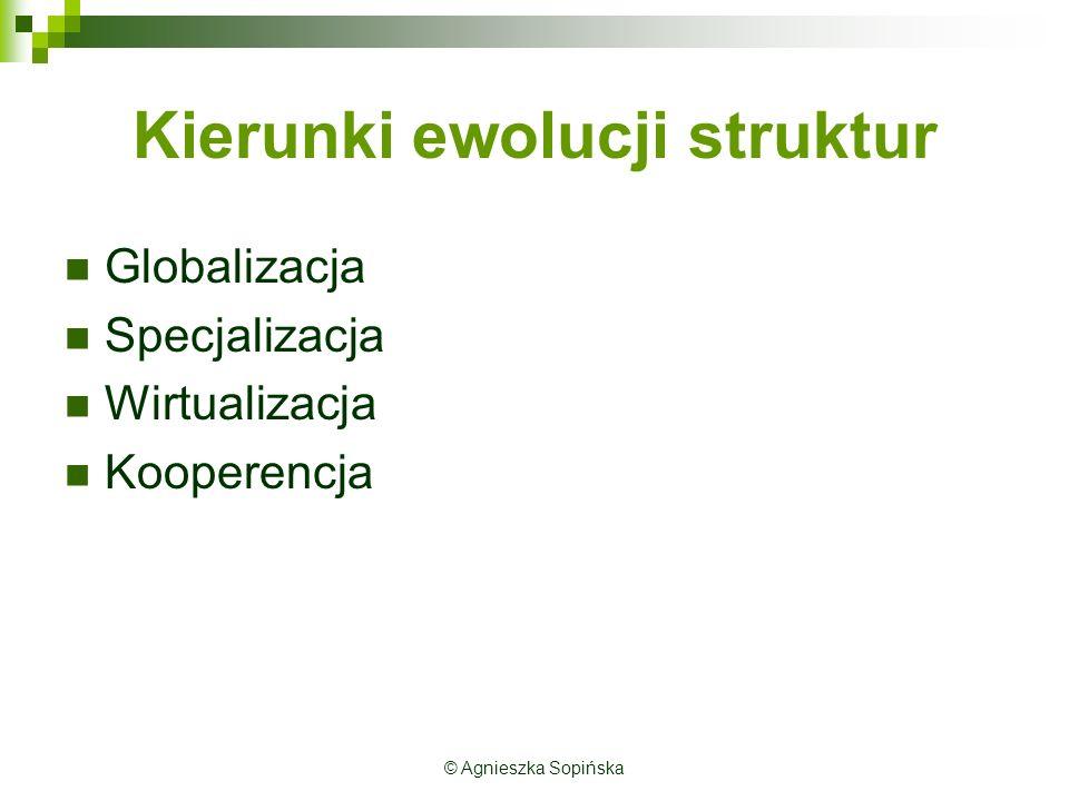 Kierunki ewolucji struktur
