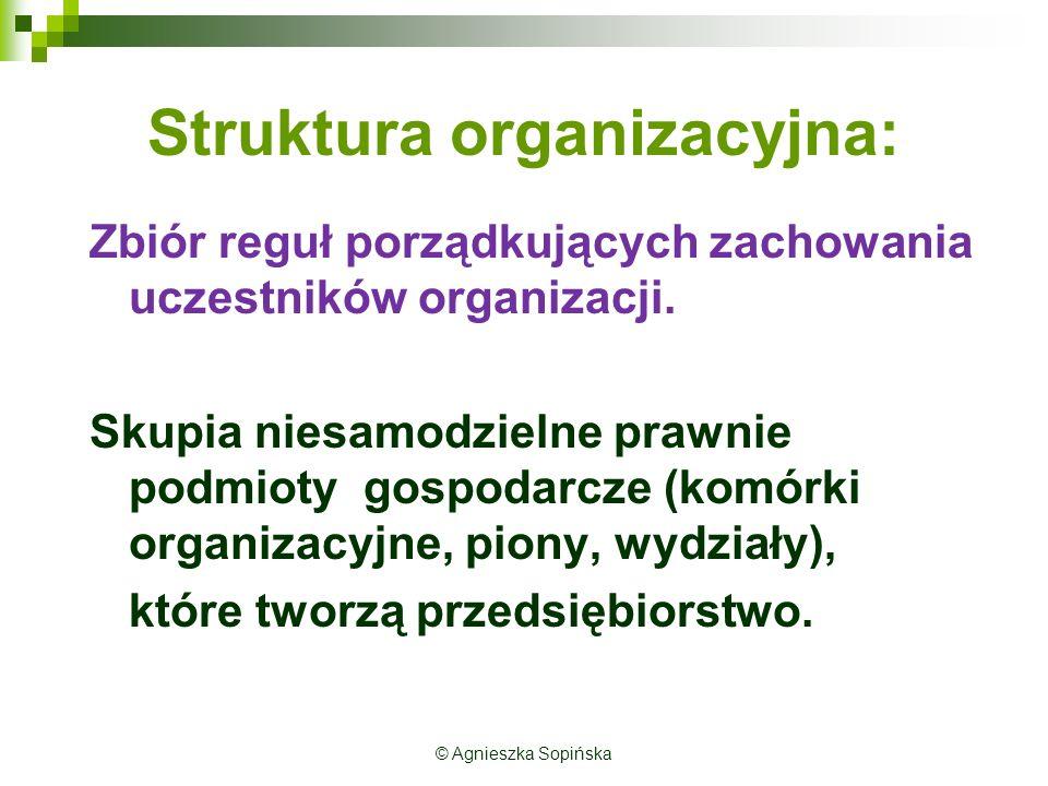 Struktura organizacyjna: