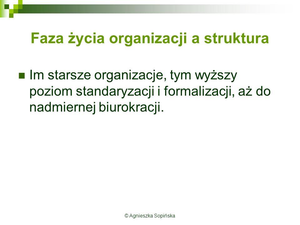 Faza życia organizacji a struktura