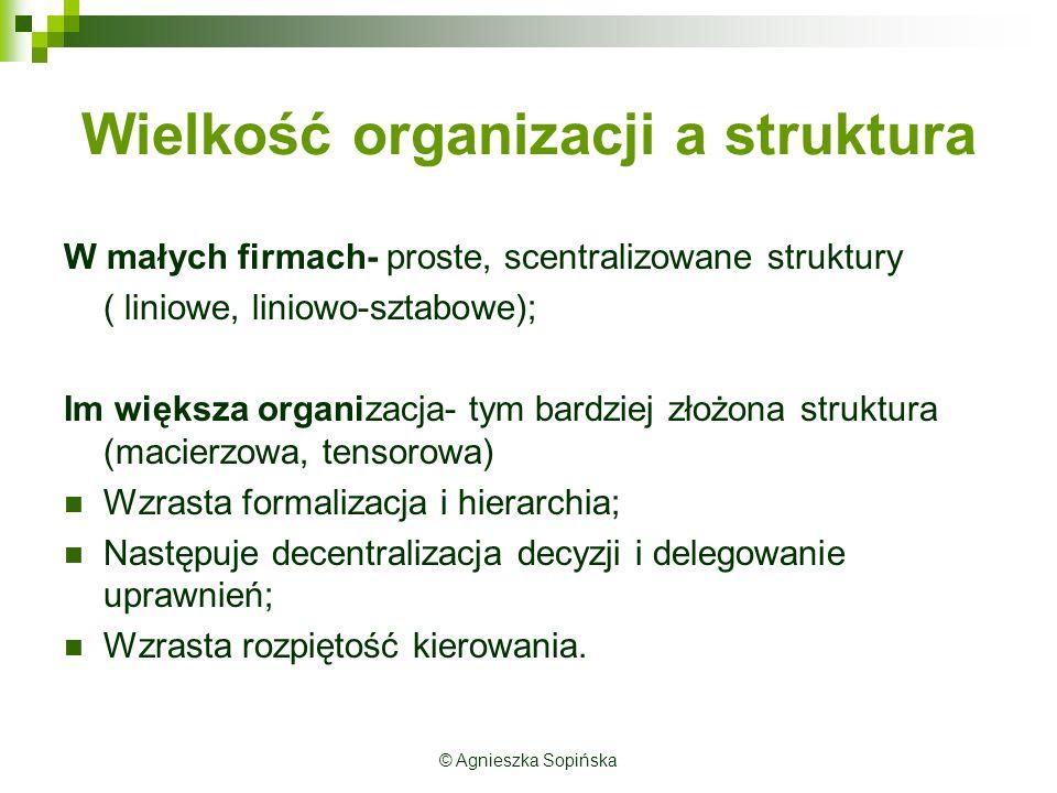 Wielkość organizacji a struktura