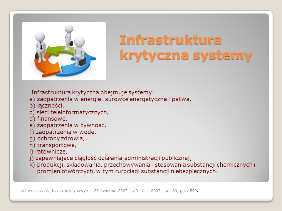 Infrastruktura krytyczna systemy