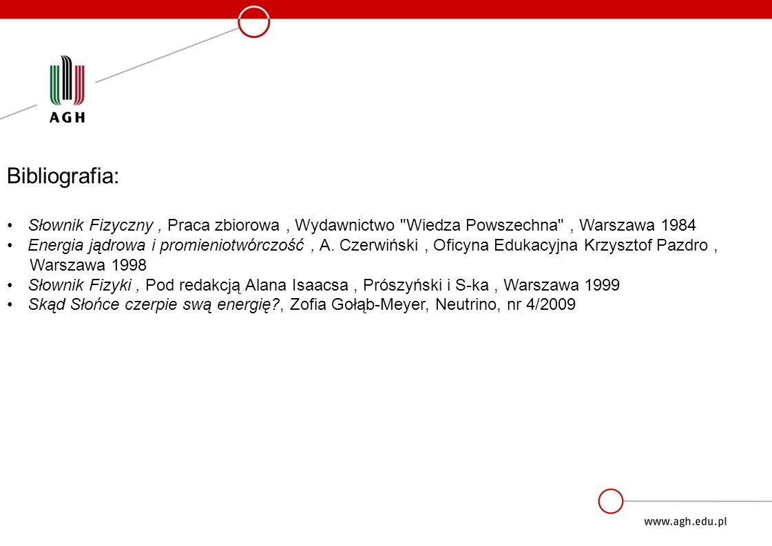 Bibliografia: Słownik Fizyczny , Praca zbiorowa , Wydawnictwo Wiedza Powszechna , Warszawa 1984.