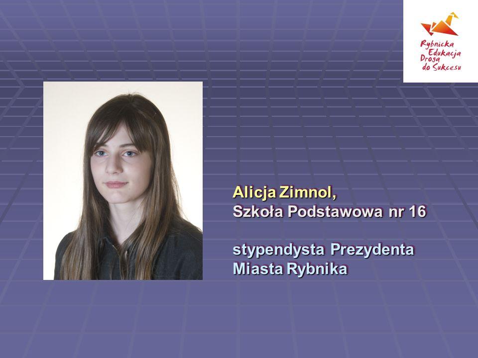 Alicja Zimnol, Szkoła Podstawowa nr 16