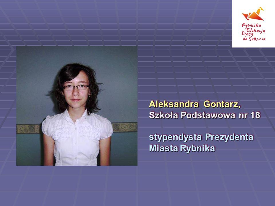 Aleksandra Gontarz, Szkoła Podstawowa nr 18