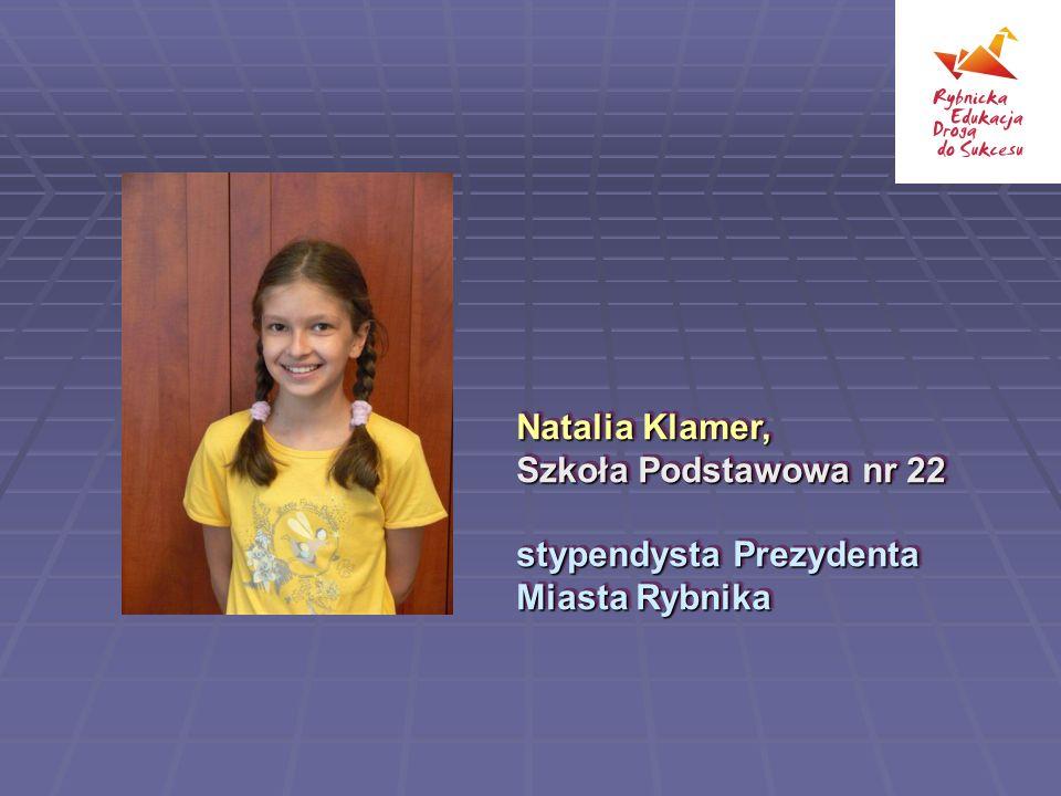 Natalia Klamer, Szkoła Podstawowa nr 22