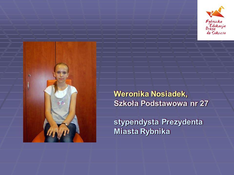 Weronika Nosiadek, Szkoła Podstawowa nr 27