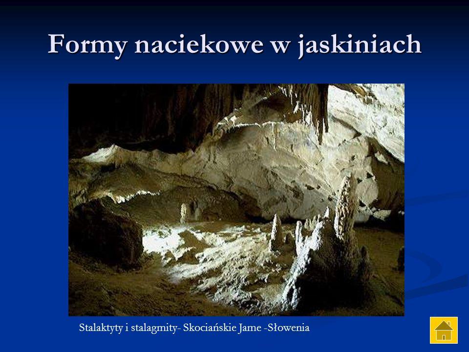 Formy naciekowe w jaskiniach