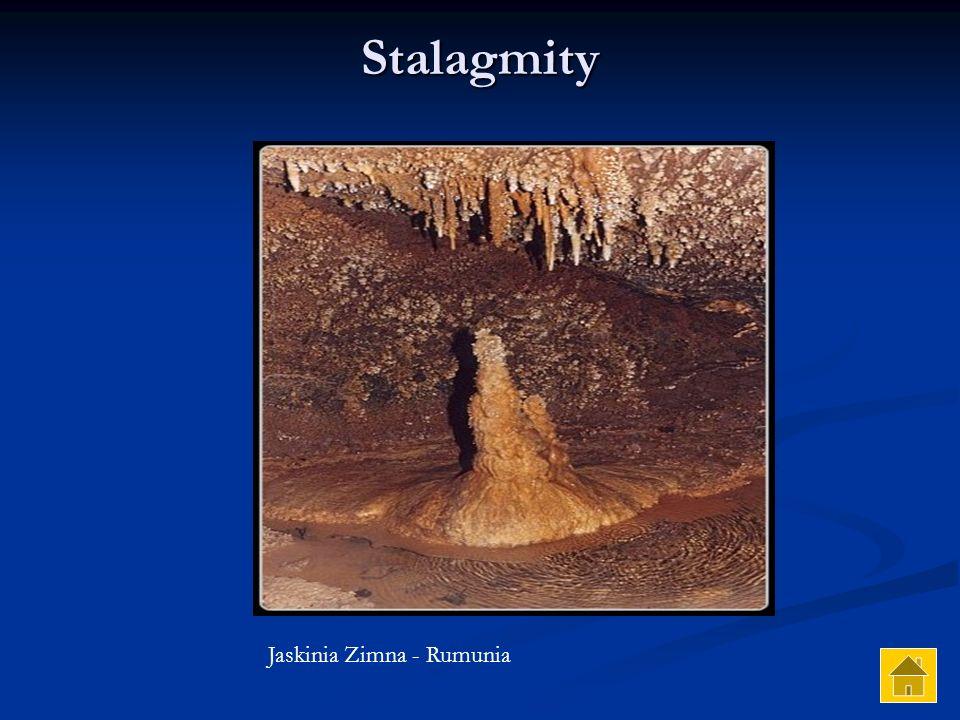 Stalagmity Jaskinia Zimna - Rumunia