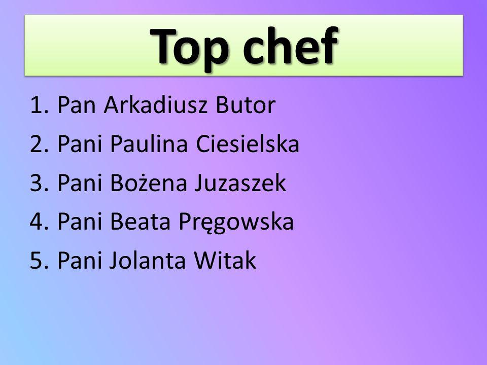 Top chef Pan Arkadiusz Butor Pani Paulina Ciesielska