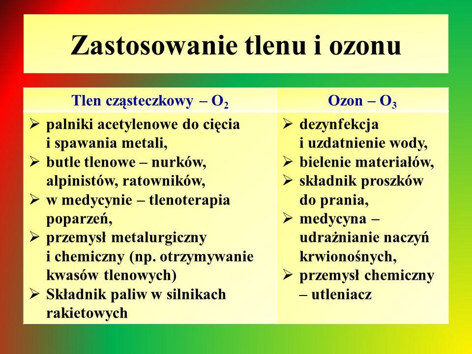 Zastosowanie tlenu i ozonu