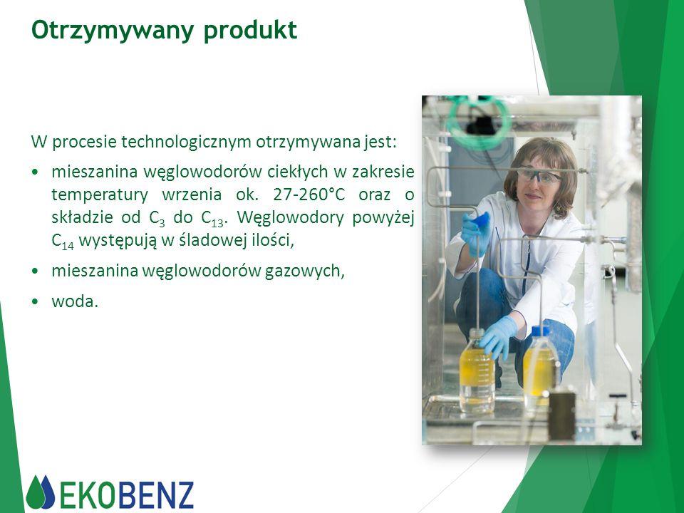 Otrzymywany produkt W procesie technologicznym otrzymywana jest:
