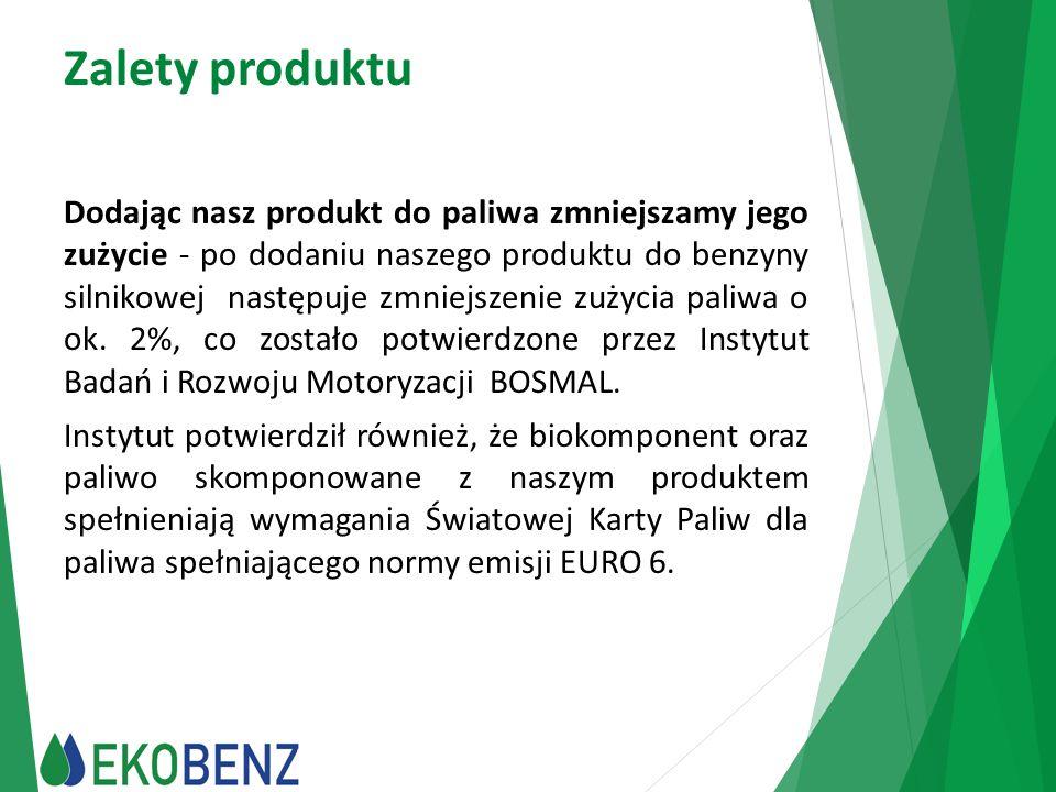 Zalety produktu