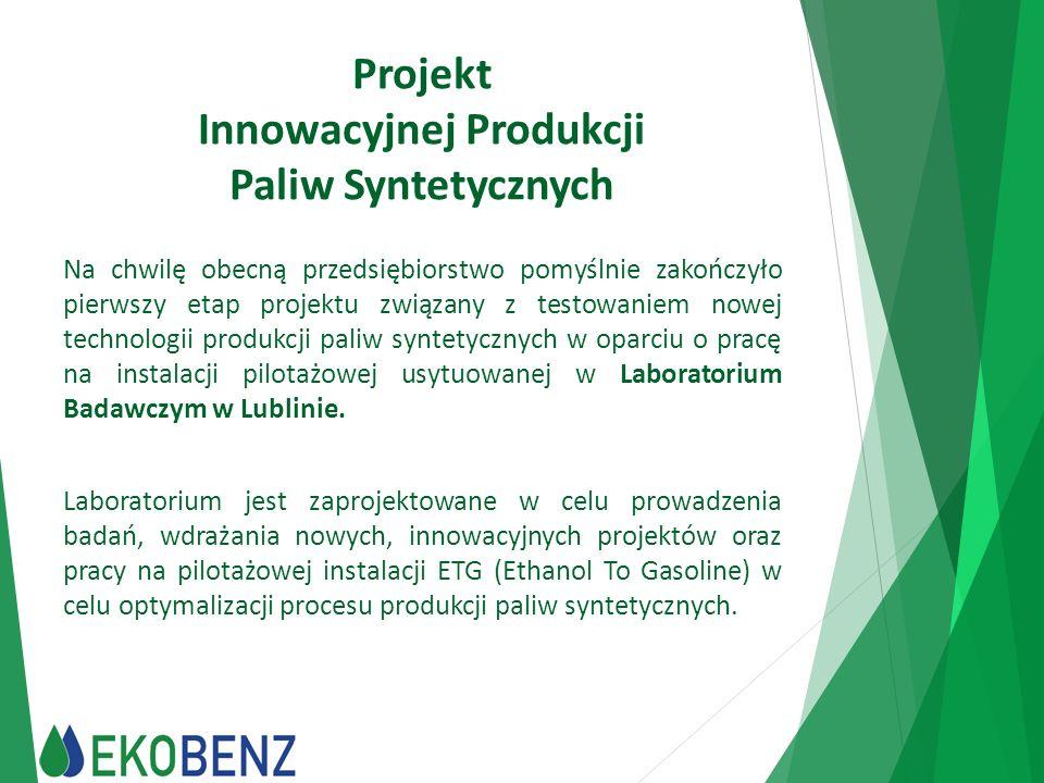 Projekt Innowacyjnej Produkcji Paliw Syntetycznych