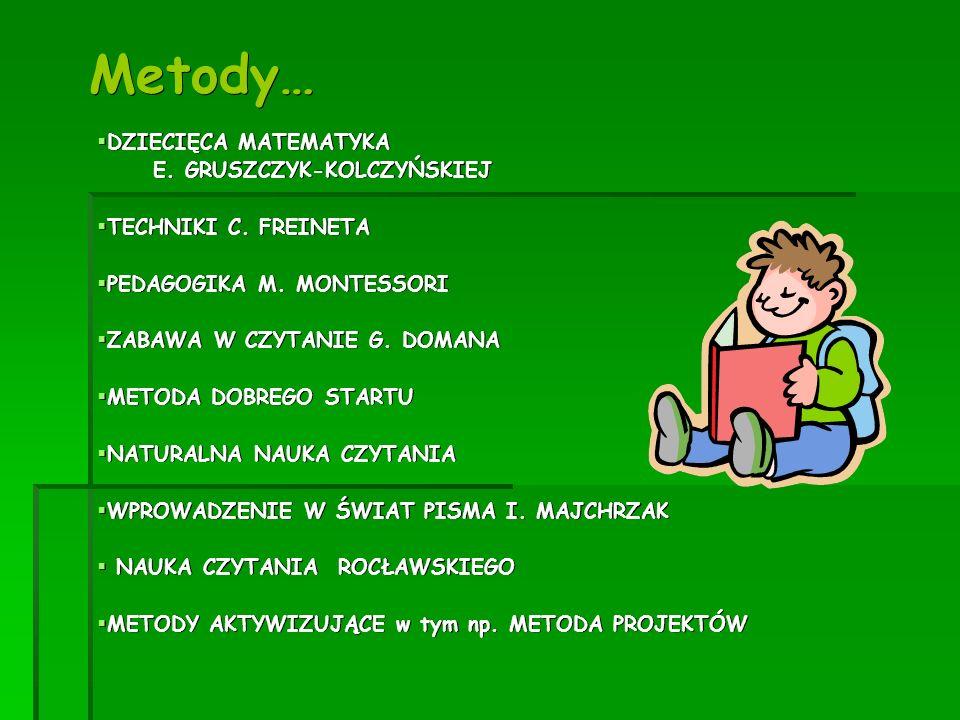Metody… DZIECIĘCA MATEMATYKA E. GRUSZCZYK-KOLCZYŃSKIEJ