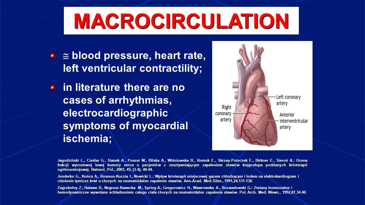 MACROCIRCULATION  blood pressure, heart rate, left ventricular contractility;