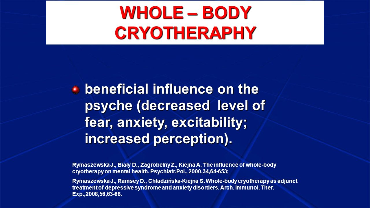 WHOLE – BODY CRYOTHERAPHY