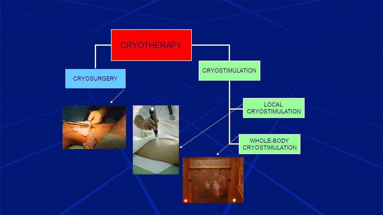 CRYOTHERAPY CRYOSTIMULATION CRYOSURGERY LOCAL CRYOSTIMULATION