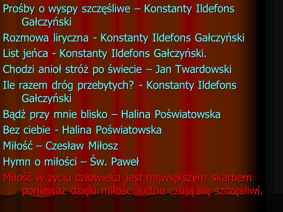 Prośby o wyspy szczęśliwe – Konstanty Ildefons Gałczyński