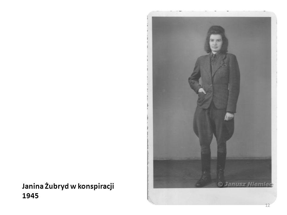 Janina Żubryd w konspiracji