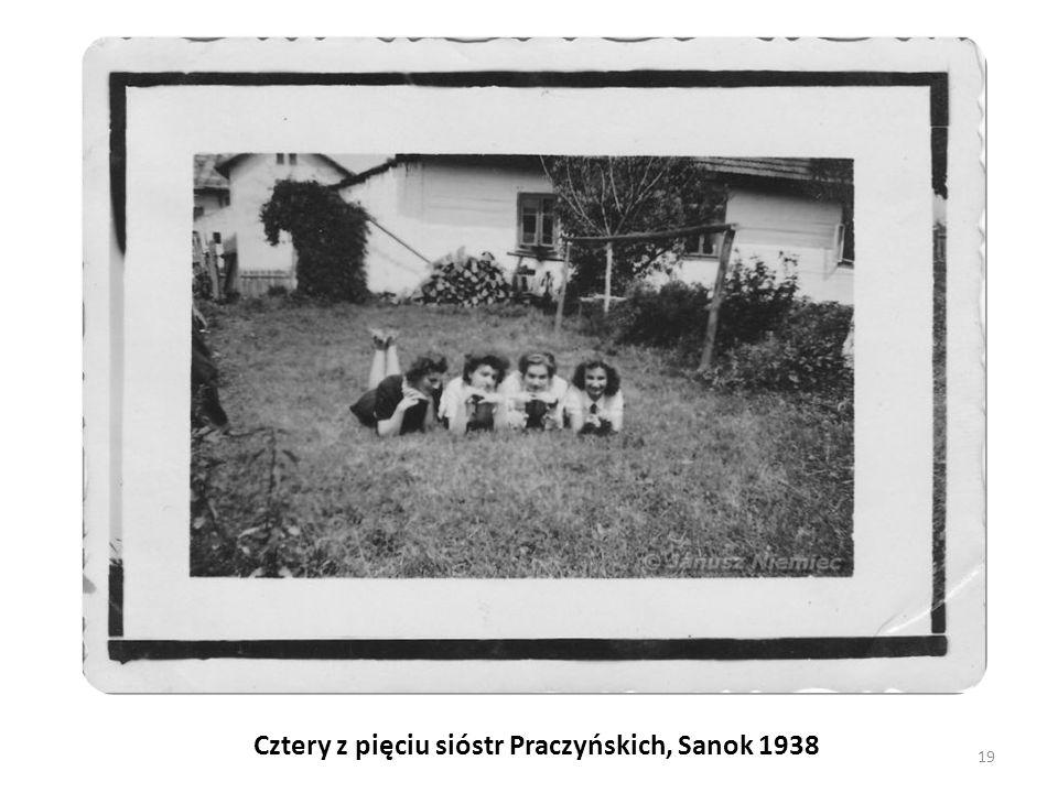 Cztery z pięciu sióstr Praczyńskich, Sanok 1938