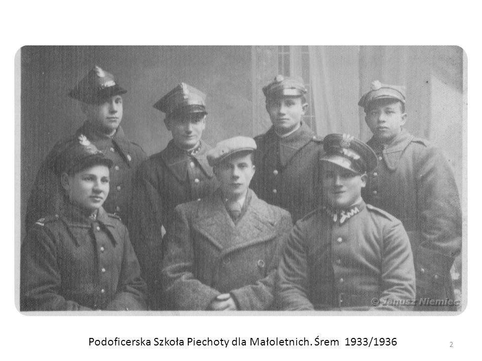 Podoficerska Szkoła Piechoty dla Małoletnich. Śrem 1933/1936