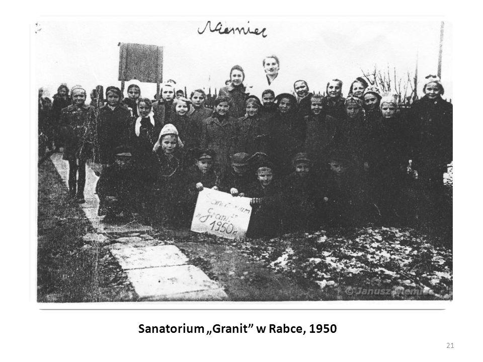 """Sanatorium """"Granit w Rabce, 1950"""