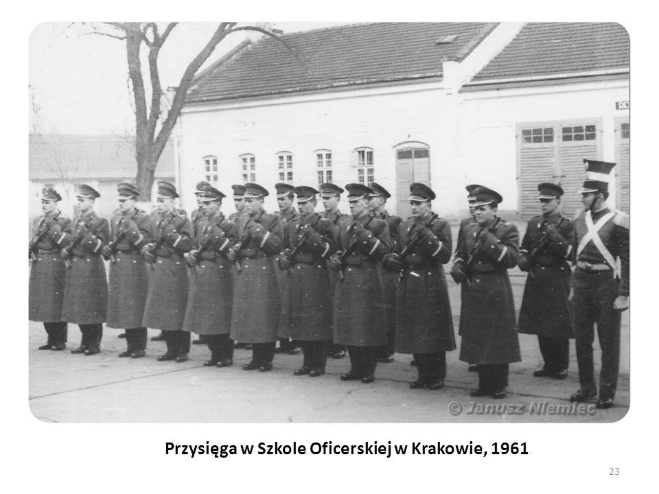 Przysięga w Szkole Oficerskiej w Krakowie, 1961