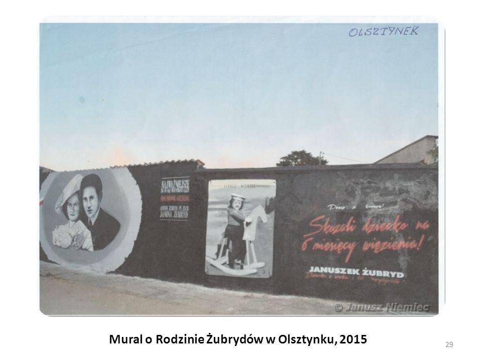 Mural o Rodzinie Żubrydów w Olsztynku, 2015