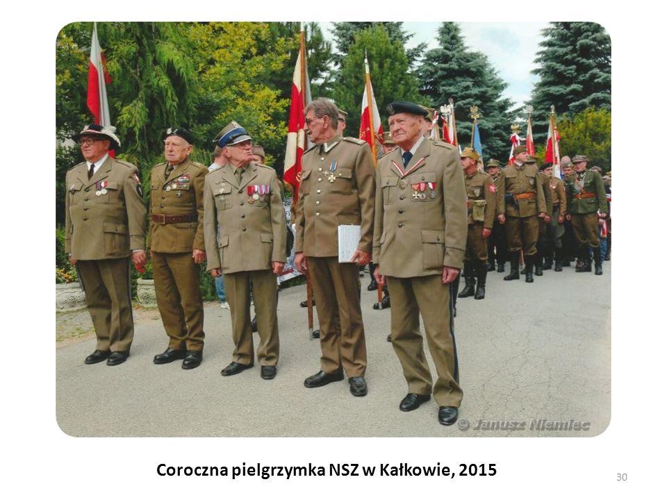 Coroczna pielgrzymka NSZ w Kałkowie, 2015