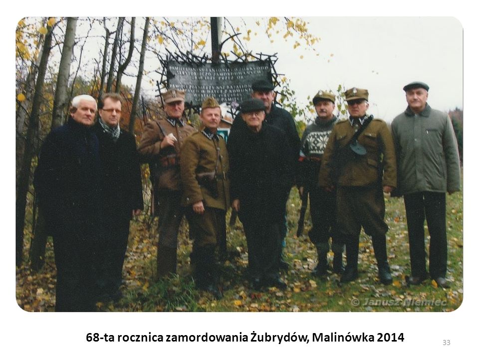 68-ta rocznica zamordowania Żubrydów, Malinówka 2014