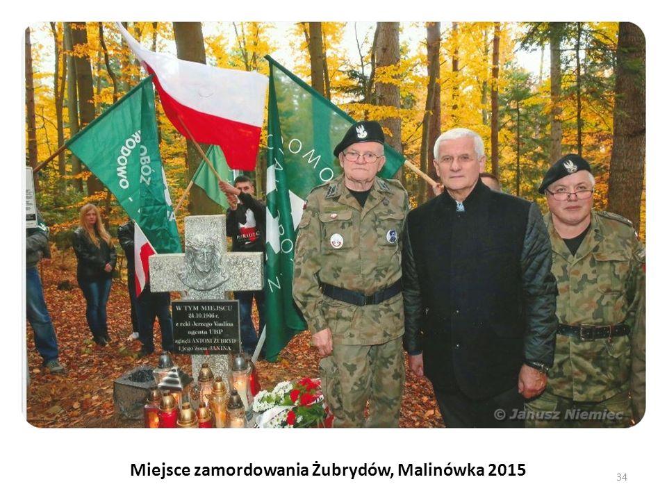 Miejsce zamordowania Żubrydów, Malinówka 2015