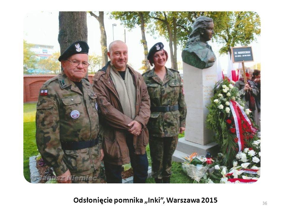 """Odsłonięcie pomnika """"Inki , Warszawa 2015"""