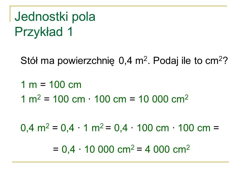 Jednostki pola Przykład 1