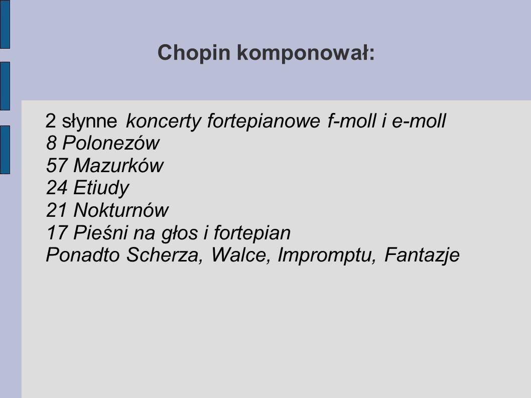 Chopin komponował: