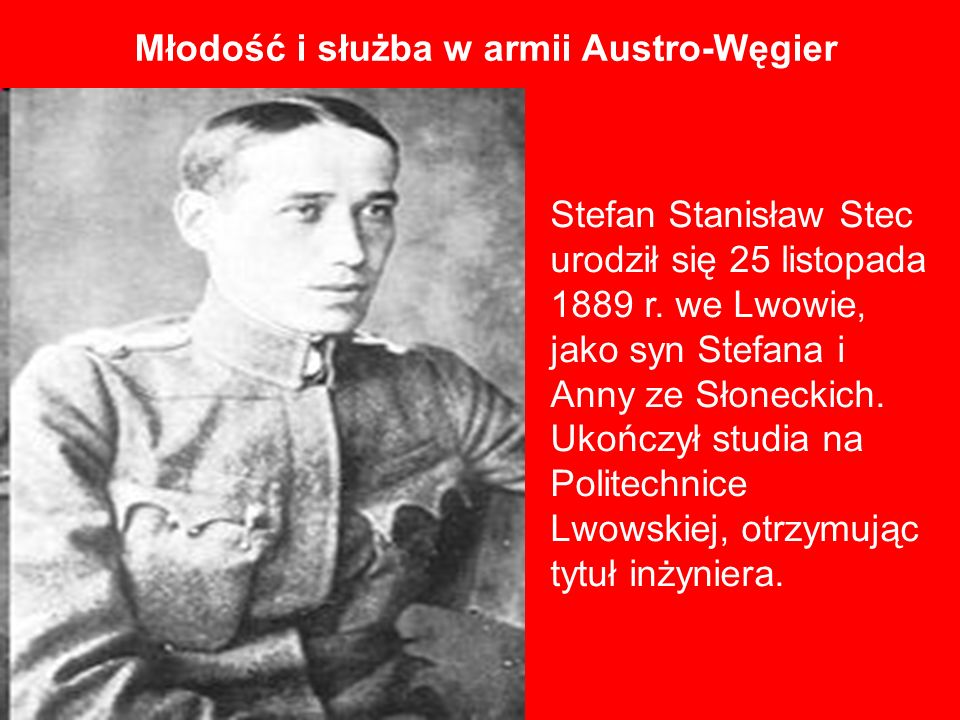 Młodość i służba w armii Austro-Węgier