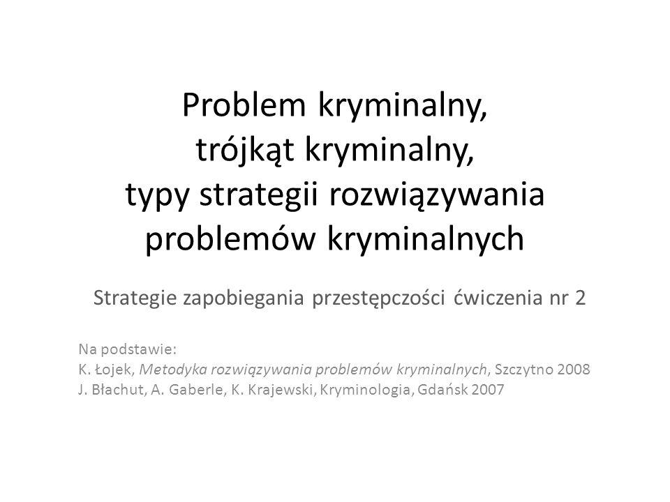 Strategie zapobiegania przestępczości ćwiczenia nr 2