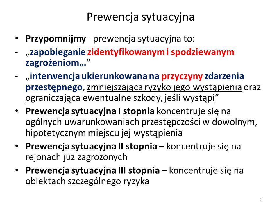 Prewencja sytuacyjna Przypomnijmy - prewencja sytuacyjna to: